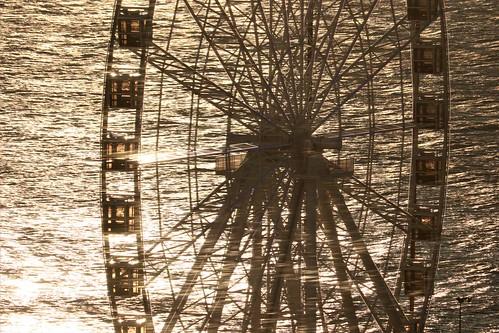 sunriseonchristmas sunrise atlanticcity nj wheel christmas outdoor geometry
