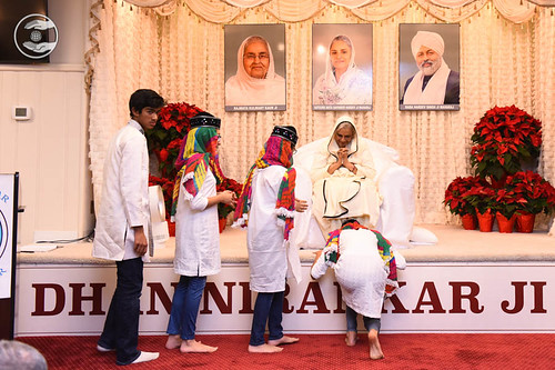 Child devotees seeking blessings