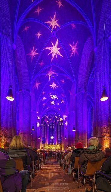 Die Marktkirche in Hannover wird zur Adventszeit regelmässig illuminiert.