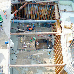 Construction site seen from above