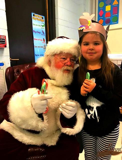 Santa came to school today