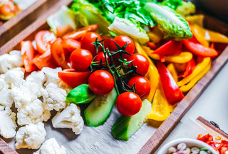 Plate of Fresh Vegetables   by wuestenigel