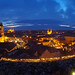 Panorama taken from the fortress. Eger, Hungary