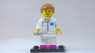 Brick Yourself Custom Lego Figure - Nurse with Pink Shoes | by BrickManDan