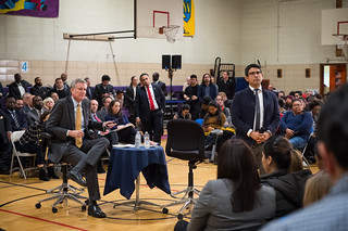 NYC Mayor Bill de Blasio co-hosts a Townhall meeting with Council Member Menchaca at M.S. 88 in Brooklyn on Thursday, December 14, 2017. Edwin J. Torres/Mayoral Photography Office. | by nycmayorsoffice