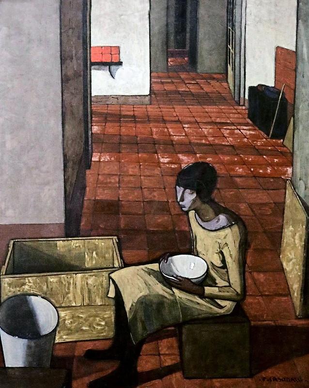 IMG_2662 Felice Casorati. 1883-1963. La fille avec un bol, le matin 1920  The girl with bowl, morning  1920.  Turin Galleria d'Arte Moderna e Contemporanea