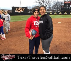 Madison McClarity @DeeMcClarity04 with Team USA softball player Kelsey Stewart. Kelsey was a special guest and provided words of wisdom and displayed her high level of skill at the plate and in the field.
