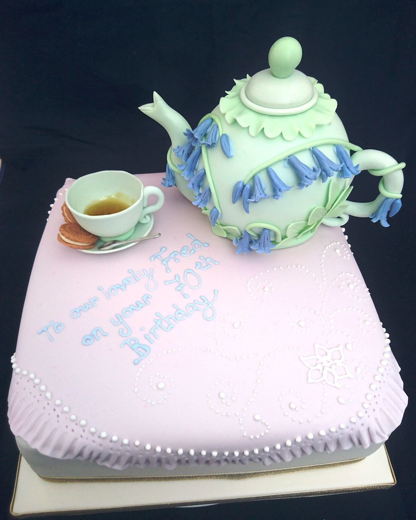 Bluebell Teapot Birthday Cake