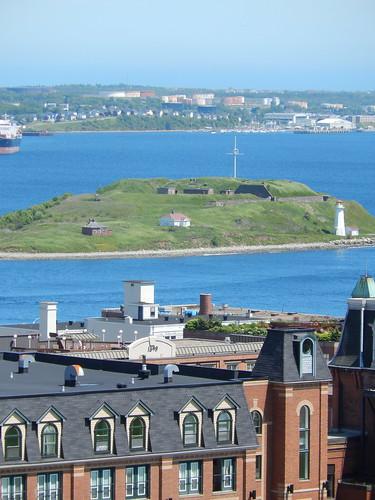 Halifax - vanaf Citadel Hill - Georges Island