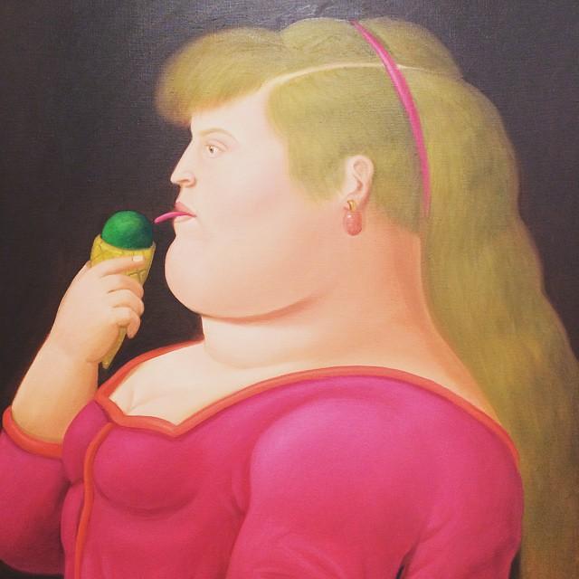 Girl Eating Ice Cream Fernando Botero 1999 Sheshouldst