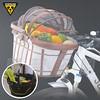 141T-114 TOPEAK HB Cabriolet Basket (TB2010)前購物菜籃- 咖啡條紋/網狀遮光頂篷/限重5kg/鋁合金骨架/外層尼龍布/塑膠提把/含快拆(Fixer 8)/容量27L/39 x 32 x 22.5 (35) cm