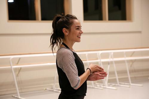 Jessica Lee Keller during rehearsal