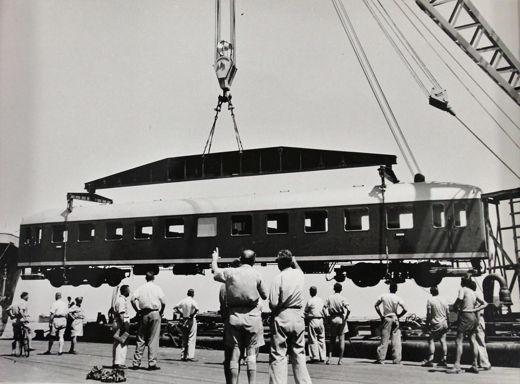 041c9fe9da ... Israel Railways - a new Orenstein   Koppel passenger coach for Israel  in 1955
