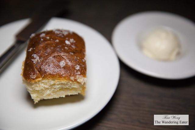 Honey wheat rolls with sake butter
