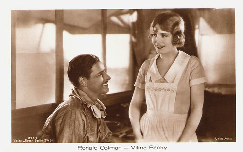 Ronald Colman and Vilma Banky in The Winning of Barbara Worth (1926)