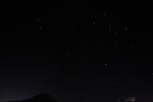 Mount Fuji and Geminids