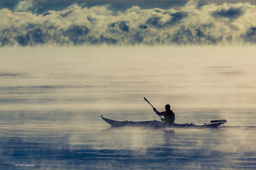 Kayaking in the ice fog of Lake Ontario at dawn when it is -30 degrees | by Phil Marion (177 million views - THANKS)