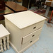 3 high chest of drawers cream painted E80