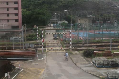 Level crossing across the yard tracks at Chai Wan depot