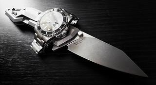 Rolex Submariner Watch and Raidops Centauro Knife ///