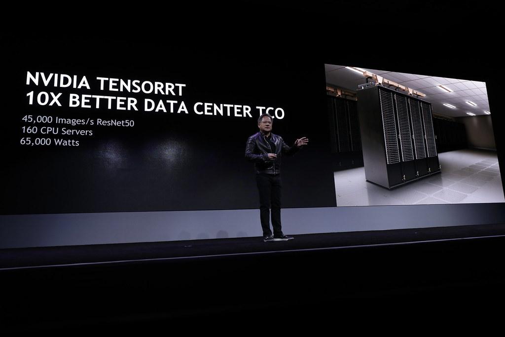Jensen Huang at NVIDIA's CES 2018 press conference | Flickr