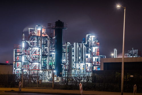 Amsterdam industrial nightshot