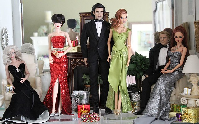 xmas doll cabinet party
