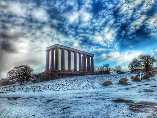 Calton Hill in Snow | by Fraser Mummery