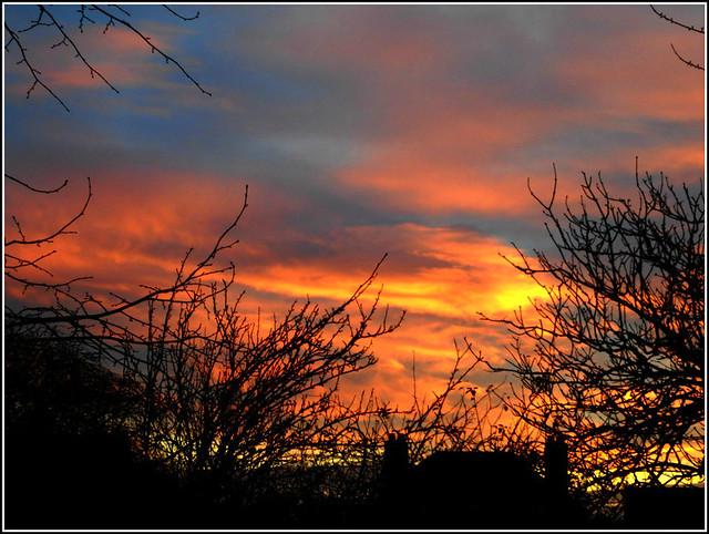 Flaming Sunset....
