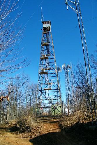 hibriten mountain caldwell county lenoir carolina north fire tower