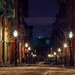 Empty beacon hill street on Christmas Eve