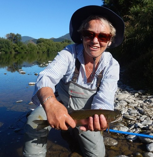 Mary's first fish on a fly rod | by Michael in Nelson