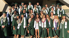 A total of 36 current and former UH  Manoa student-athletes participated during the Winter Commencement Exercises.