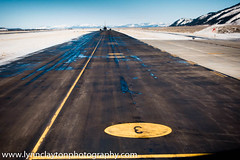 on the runway, Jackson Hole