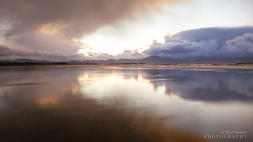 ireland irishlandscape irishseascape irishatlanticcoastline kerry bannabeach sunset christmas