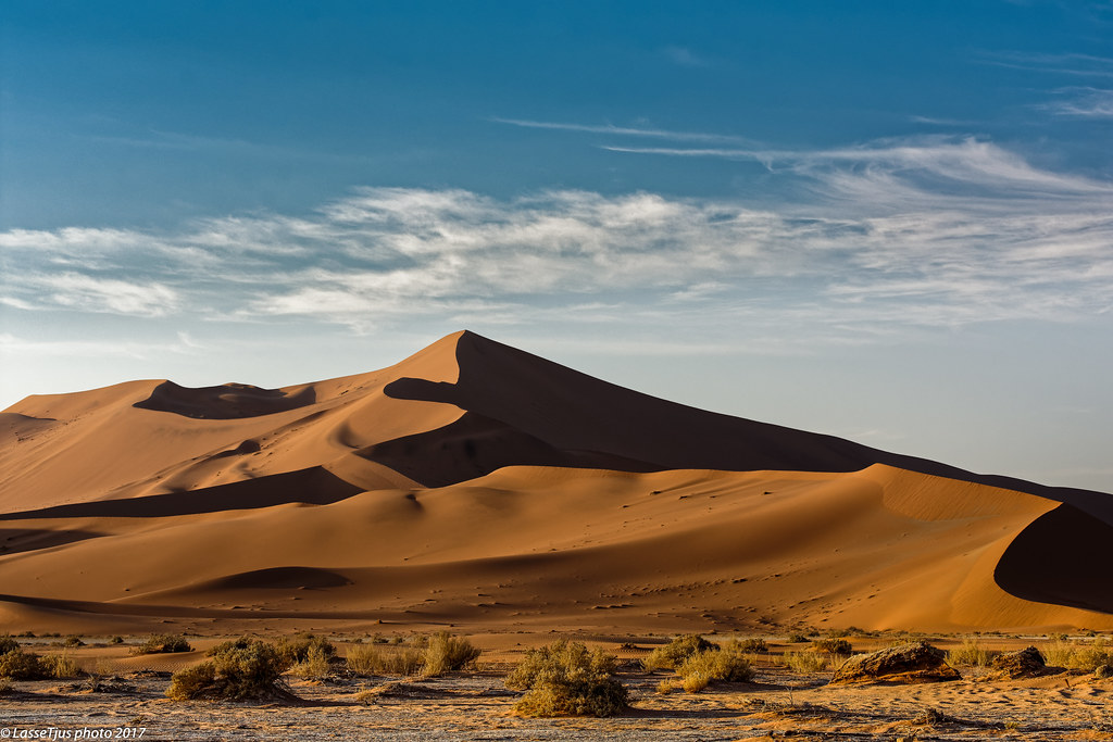 Big Daddy Sossusvlei Namibia At Sunrise Close To Deadvle