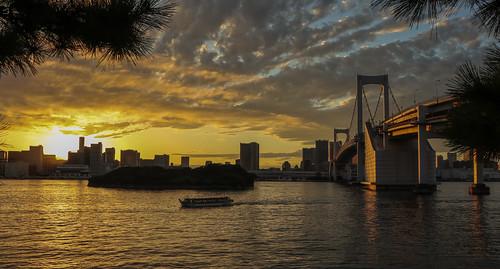 seaside お台場 tokyobay 東京 ngc nightview coast reflection レインボーブリッジ odaiba japan tokyo 湾岸 rainbowbridge
