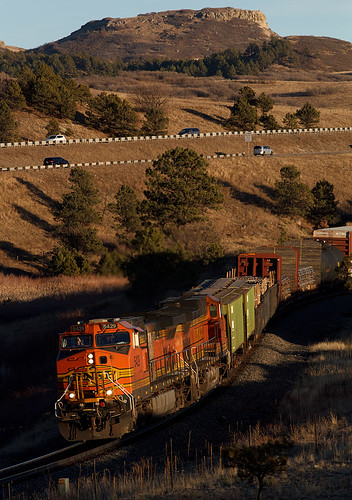 bnsf bnsf5429 ge generalelectric c449w larkspur colorado jointline train railroad