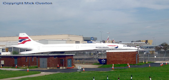 Concorde G-BOAB preserved at Heathrow Airport