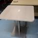 White desk high ped E80