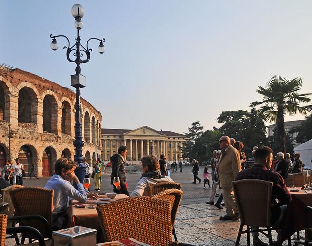 Coffee break in Verona