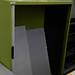 Green metal tambour no doors comes with shelves E100