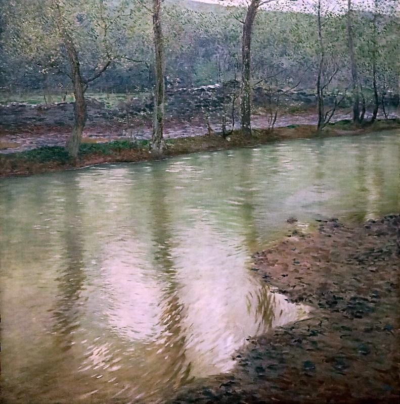 IMG_8070MD Antonin Hudecek. 1872-1942. Premières feuilles vertes. First green leaves. 1900 Prague Narodni Galerie Veletrzni Palac