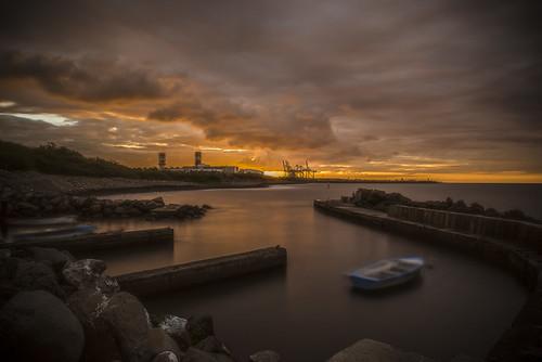 grue long exposure pentax k1 2470 mm landscape seascape la réunion island full frame port pêche
