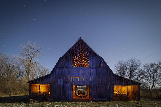 Blue-Orange Barn