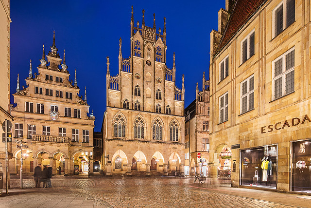 Prinzipalmarkt Münster with the historic town hall