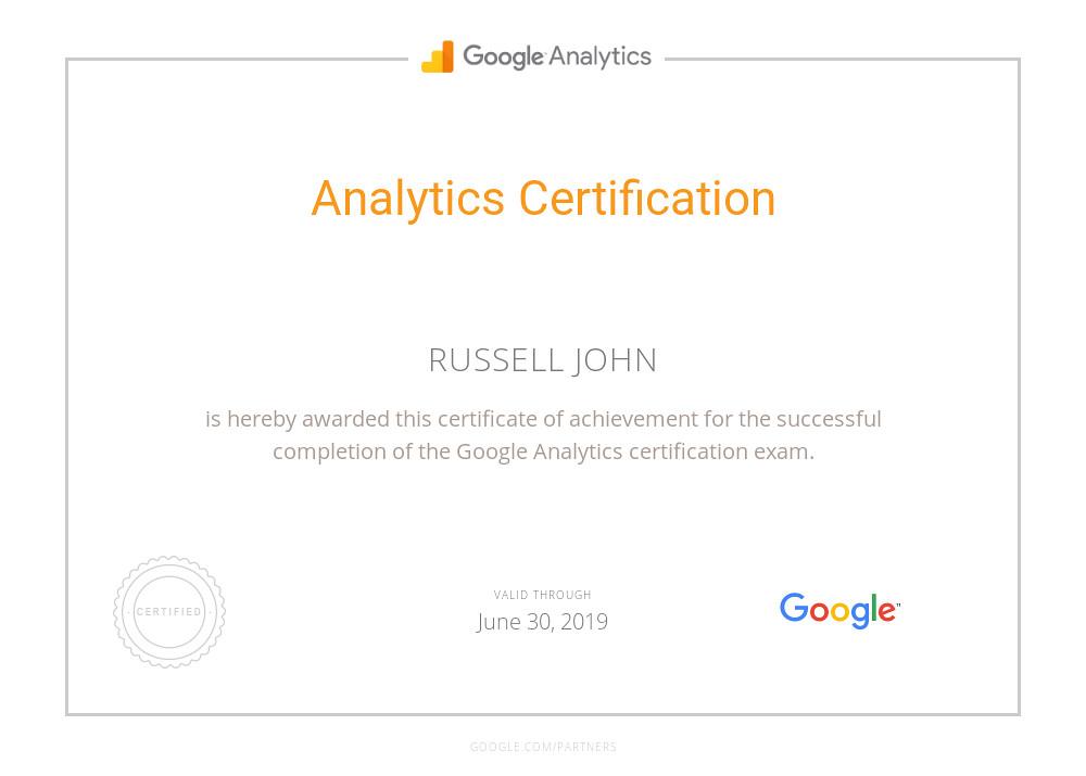 analytics certification certificate partners proxima slideshares proximos