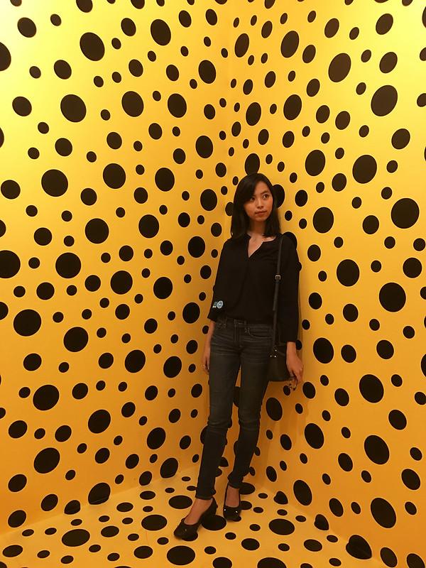 At Yayoi Kusama Exhibition