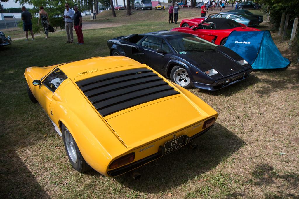 1966 1969 Lamborghini Miura Le Mans Classic 2016 Telkine Flickr