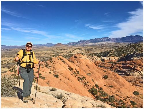 dl runemaker hiking wilderness redrock camelback redcliffsdesertreserve nature landscape mountains sky clouds utah desert